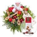 Weihnachtsbäckerei und Pralinen-Herzen