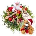 Weihnachtsbäckerei und Weihnachts-Teddy