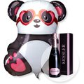 Riesenballon Panda in Love und Kessler Rose Sekt