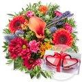 Herbstleuchten und Herzkerzen in Geschenkpackung