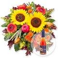Goldener Herbst und Pflaumen-Secco