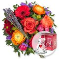 Farbenfreude und Glasbär mit Herz