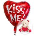 Ballon Kiss me und Teddy mit Herz