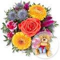 Herbstzauber und Glückwunsch-Teddy