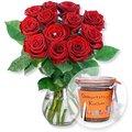 Red Romance und Kuchen im Glas Geburtstag