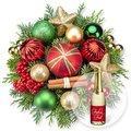 Weihnachtsfreude und Xmas-Goldtraum-Piccolo