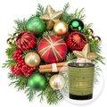 Weihnachtsfreude und grünes Windlicht