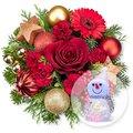 Weihnachtszeit und LED-Schneemann