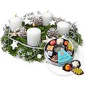 Adventskranz Weiße Weihnacht (30cm) und Adventskaffee