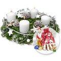 Adventskranz Weiße Weihnacht (30cm) und Süßer Adventsgruß