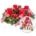 Adventskranz Frohe Weihnacht (30cm) und Süßer Adventsgruß