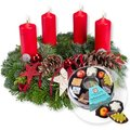 Adventskranz Himmelhoch (30cm) und Adventskaffee