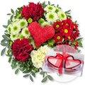 Herzensgruß und Herzkerzen in Geschenkpackung