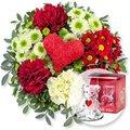 Herzensgruß und Glasbär mit Herz