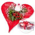 Forever und Herzkerzen in Geschenkpackung