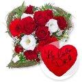 Amore und Kuschel-Herz Ich liebe Dich