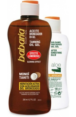 Babaria Pack Aceite Solar Gel Luminoso After Sun, 300 ml