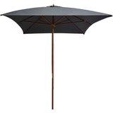 vidaXL Tuinparasol met houten paal 200x300 cm antraciet
