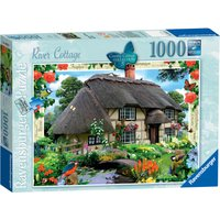 Ravensburger Country Cottage River Cottage 1000 Pc Puzzle - Pc Gifts