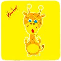 Hamleys Wooden Giraffe Plaque - Giraffe Gifts