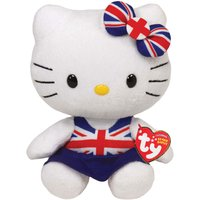 TY Hello Kitty Union Jack With Dress Beanie Babies - Hello Kitty Gifts