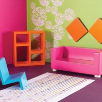 The Dolls House Emporium Funky Living Room Set - Funky Gifts