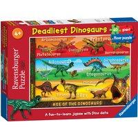 Ravensburger Deadliest Dinosaurs Giant 60pc Floor Puzzle - Ravensburger Gifts