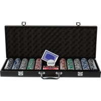 Club Poker 500 Piece Leather Poker Chip Case - Poker Gifts