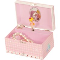 Musical Pink Lace Fairy Design Jewellery Case With Drawer - Fairy Gifts