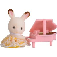 Sylvanian Families Rabbit Baby With Piano Carry Case - Music Gifts