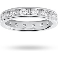Platinum 1.50 Carat Dot Dash Channel Set Full Eternity Ring
