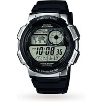 mens casio world time alarm chronograph watch ae1000w1a2vef