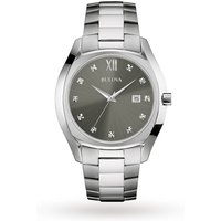 mens bulova diamond watch 96d122