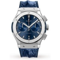 hublot classic fusion blue chronograph mens watch