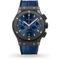 hublot classic fusion ceramic blue chronograph mens watch