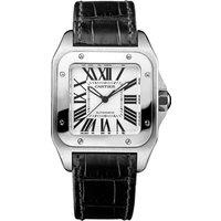 cartier santos 100 watch, medium model