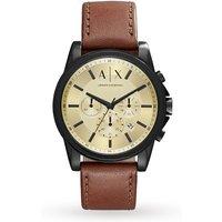 armani exchange mens dark brown chronograph watch