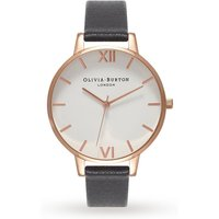 olivia burton white dial black and rose gold watch