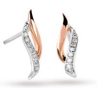 c4f763dd4 9ct Rose & White Gold 0.065ct Diamond Twist Drops | UK's Luxury ...