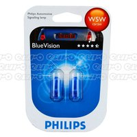 Philips Blue Vision W5W Bulbs 501Bvtwin Blister W5W Blue Vis 501Bv