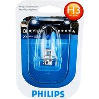 Philips Blue Vision H3 453 Bulbs Single Blister H3 Bulbs Blue Vision