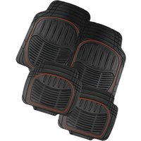Universal 4pc Rubber Mat Set with Red Strip
