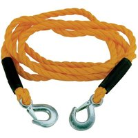 Tow Rope 10mm x 3m 1800kg with metal clip hooks