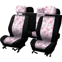 LADYLINE Seatcover set 8 pcs pink flower
