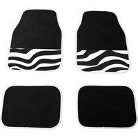 LADYLINE Floormats universal 4 pcs zebra