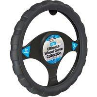 Steering Wheel Gloves in Black Sports Grip Van Wheel Glove-Luxury Univ
