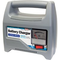 12v 4 Amp Automatic Plastic Cased Battery Charger