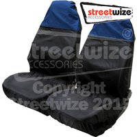 Water Resistant Lightweight Front Pairsof Seat Protectors in Two Tone