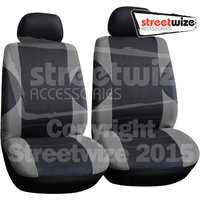 Polyester 6 pce Front Seat Covers Pairs in Grey