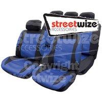 Nebraska -11 Pce Mesh Seat Cover Set with 5 Headrest Covers inBlack/ B